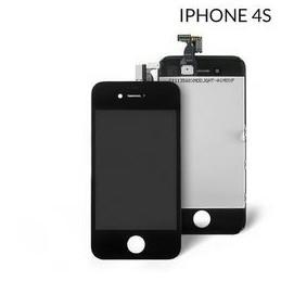 Display Lcd Hd completo di Touch screen e vetro Iphone 4S Nero HQ