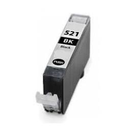 Cartuccia Inkjet compatibile Canon CLI-521BK CLI521 con chip nero