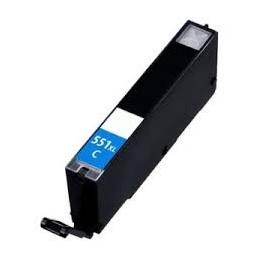Cartuccia Inkjet compatibile Canon CLI-551C XL Pixma cyano con chip