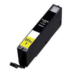 Cartuccia Inkjet compatibile Canon CLI-551Y CLI551 XL Pixma yellow con chip