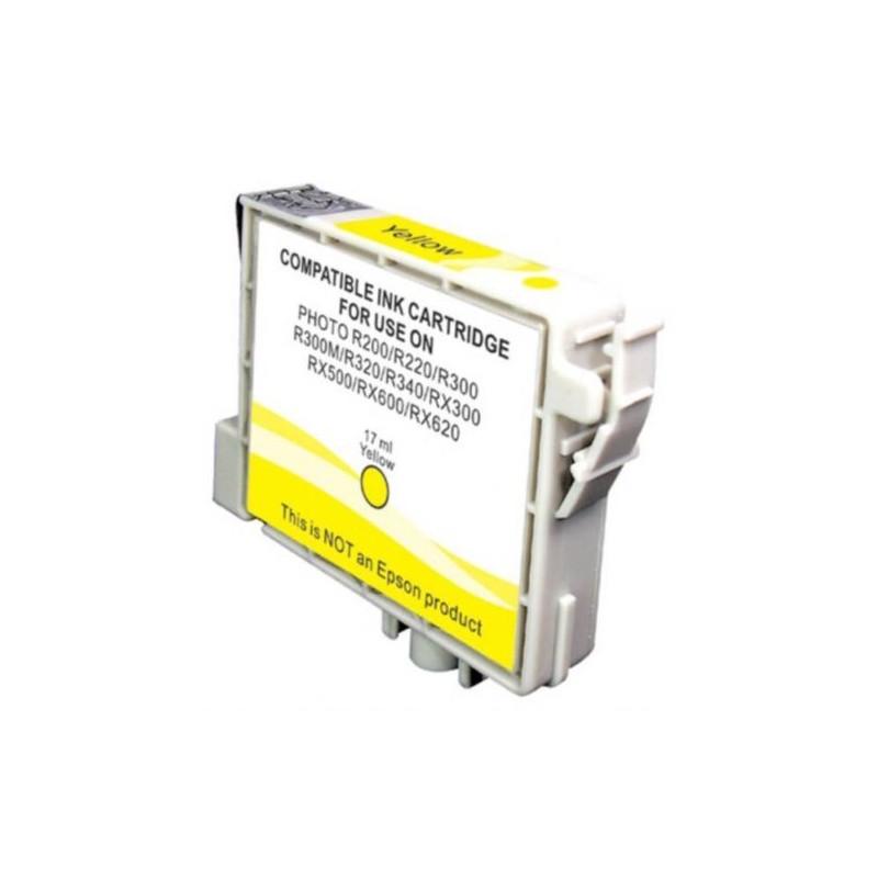 Cartuccia Inkjet compatibile Epson Stylus R200 R220 R300 R320 RX500 RX600 T0484 yellow