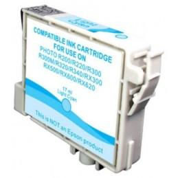 Cartuccia Inkjet compatibile Epson Stylus R200 R220 R300 R320 RX500 RX600 T0485 light cyano