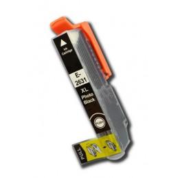 Cartuccia Inkjet per Epson T2631 XL Expression Premium XP-600 XP-610 XP-605 XP-700 XP-800 photo black