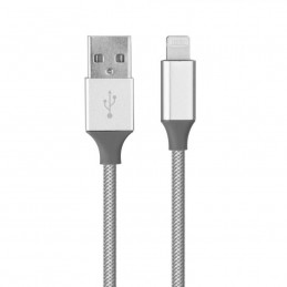 Cavo USB metallo NEW - Apple Iphone, Ipad - Lightning nero