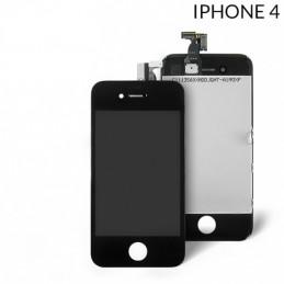 Display  Lcd Hd completo di Touch screen e vetro Iphone 4G Nero