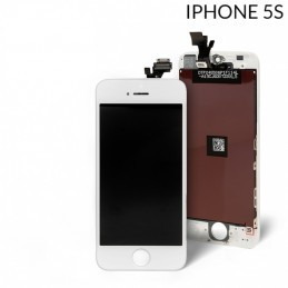 Display  Lcd Hd completo di Touch screen e vetro Iphone 5S bianco Tripla A