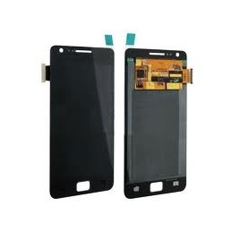 Display + touchscreen per Samsung Galaxy s2 black completi di cornice e tasto home i9100