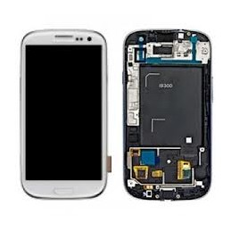 Display + touchscreen per Samsung Galaxy s3 white i9300