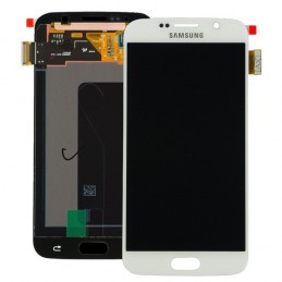 Display + touchscreen per Samsung Galaxy S6 G920 G920A G920i G920T G920F G9200 BIANCO ORIGINALE
