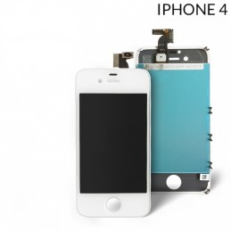 Display Lcd Hd completo di Touch screen e vetro Iphone 4G Bianco