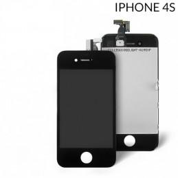 Display Lcd Hd completo di Touch screen e vetro Iphone 4S Nero
