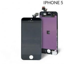 Display Lcd Hd completo di Touch screen e vetro Iphone 5 Nero Tripla A