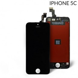 Display Lcd Hd completo di Touch screen e vetro Iphone 5C NERO Tripla A