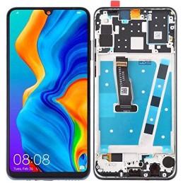 Display LCD per Huawei P30 Lite MAR-LX1M LX2J con Vetro Touchscreen e Frame Ricambio Assemblato Colore Nero