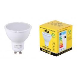 Faretti Led SMD 2835 LED GU10 7,8W 230V 3000K caldo 702lm bianco 100 milkcover corpo in plastica