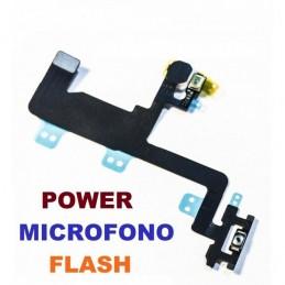 Flex Apple iPhone 6 Tasto accensione ON OFF Power + Microfono Secondario e Flash