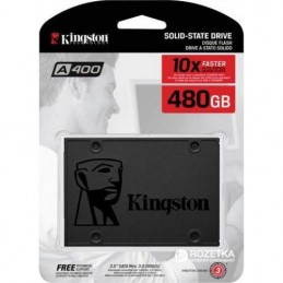 Kingston 480GB A400 Series SATA 3 2.5\' Solid State Drive - SA400S37/480GB