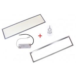 Panello ledcompleto di cornice  300x1200x9 36W 3300lm 4000-4500k naturale bianco + staffe di fissaggio+telecomando +trasformator