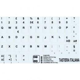 Sticker adesivi Tastiera White Italiana  Cambio  layout