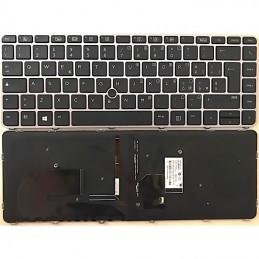 Tastiera Italiana HP EliteBook 745 G3, 745 G4, 840 G3, 840 G4 Retroilluminata Cornice Silver