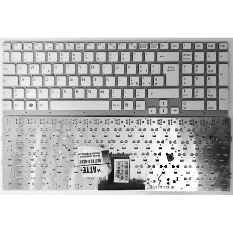 Tastiera Italiana per notebook Sony VPC-EB White Without frame series pcg- 71211m pcg-6161M