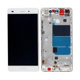 TOUCH SCREEN VETRO + LCD DISPLAY CON FRAME Huawei Ascend P8 Lite 2017 Bianco