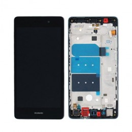 TOUCH SCREEN VETRO + LCD DISPLAY CON FRAME Huawei Ascend P8 Lite 2017 BK