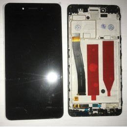 TOUCH SCREEN VETRO + LCD DISPLAY CON FRAME Per Huawei Huawei Nova Smart DIG-L01 - Nero