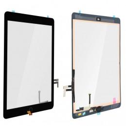 Touch Screen vetro iPad Air 5 2017 9,7 a1822 a1823 completo di adesivo tasto e flex nero ALTISSIMA QUALITA\'