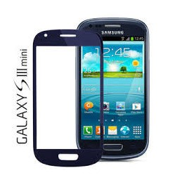 Vetro per touch screen Samsung Galaxy S3 Mini GT-I8190 I8190 BLU BLUE