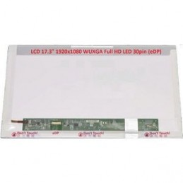 "DISPLAY LCD ACER ASPIRE E17 E5-771G-34NL 17.3 WideScreen (15.5""x8.98"")  30 pin LED"