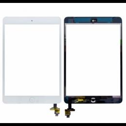 Touch screen vetro Apple iPad Mini 2 A1489 A1490 A1491 serie completo connettore e flat tasto home Bianco