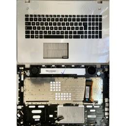 Tastiera Italiana per notebook Asus ASUS N76 N76VJ N76VB N76VZ N76VM TOP CASE  SILVER