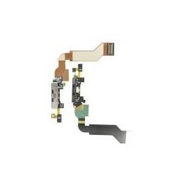 CAVO FLAT FLEX IPHONE 4S CONNETTORE DI RICARICA  nero